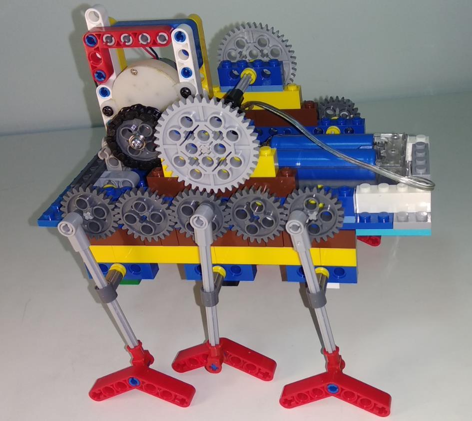 减速电机制作乐高机械爬虫