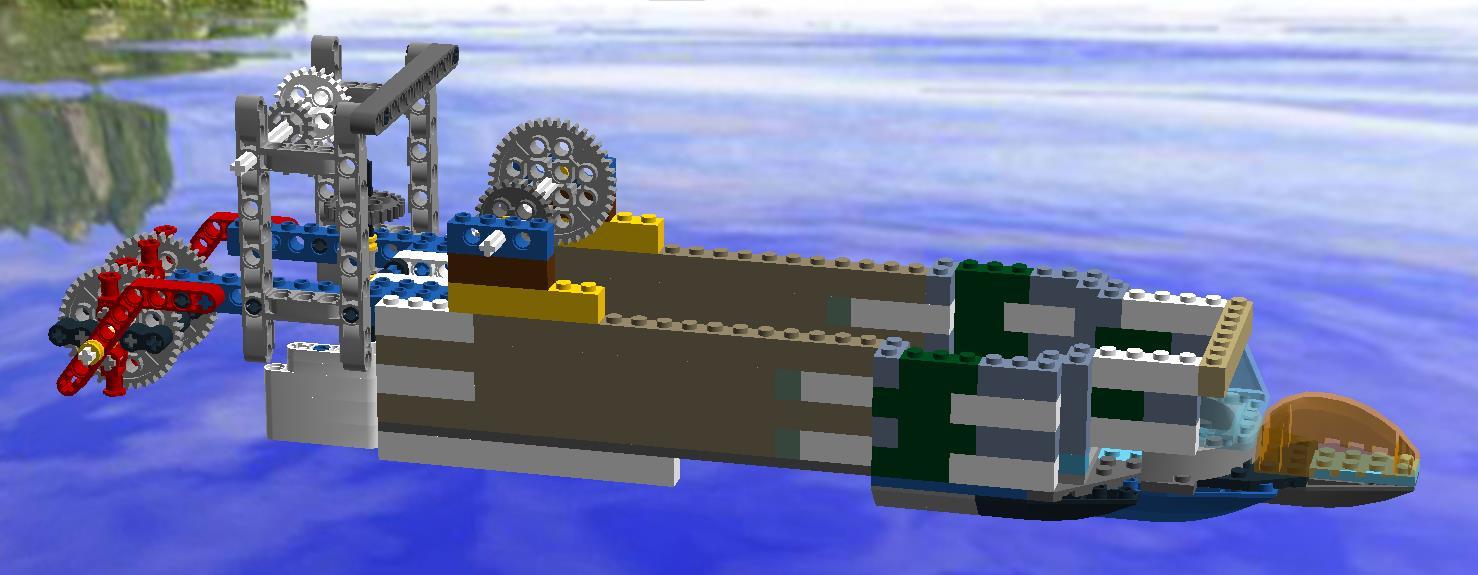 乐高电动船